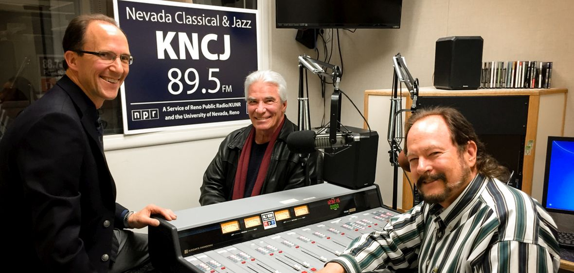 KNCJ Gen Mgr with jazz hosts