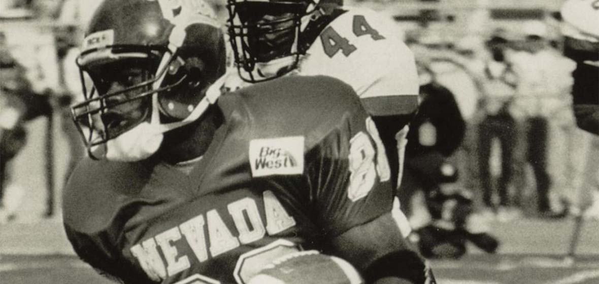 Wolf Pack football player Alex Van Dyke's farewell performance November 18, 1995
