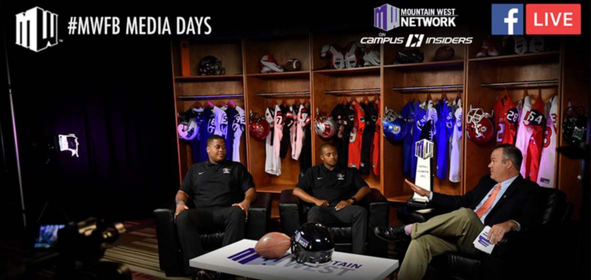 Mountain West Media Days coverage by Facebook Live