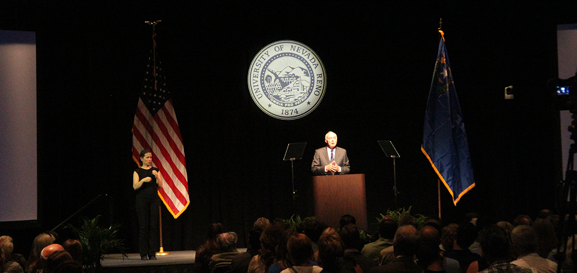 President Marc Johnson gives State of University address