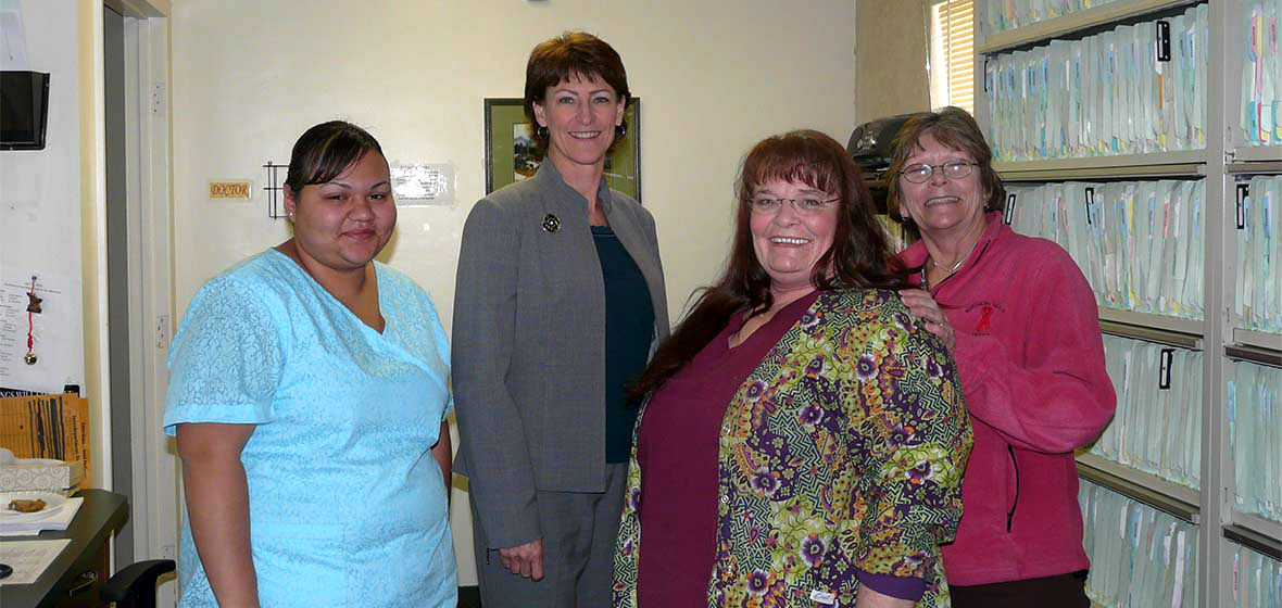 Trudy Larson with colleagues at Northern Nevada HOPES