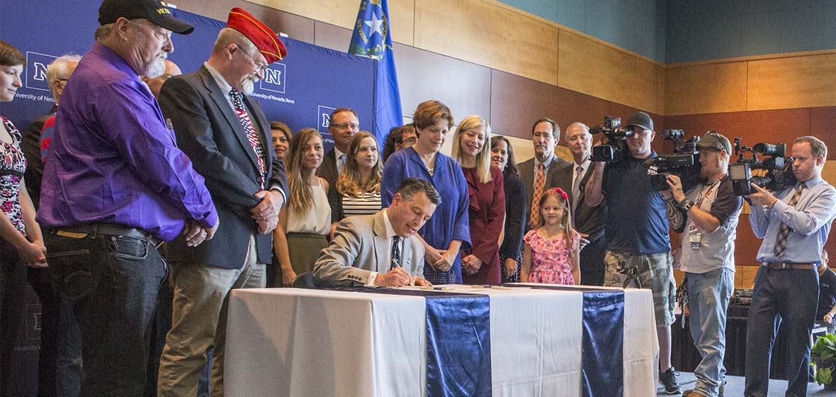 Governor Sandoval Signs three legislative bills on University of Nevada, Reno campus