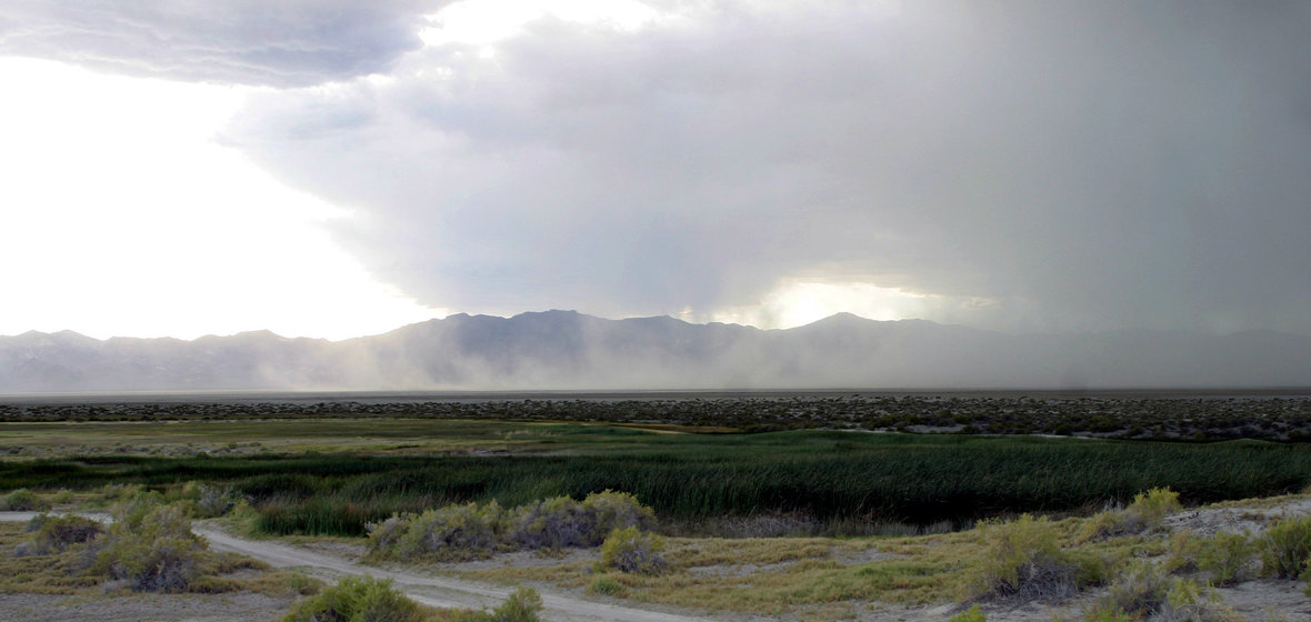 A storm over the northern Nevada desert