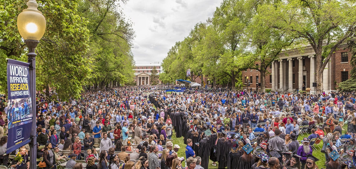 The Quad during Commencement