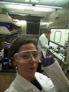 Samantha in a research lab
