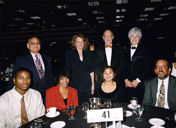 Joe Crowley with a group at the Martin Luther King, Jr. dinner