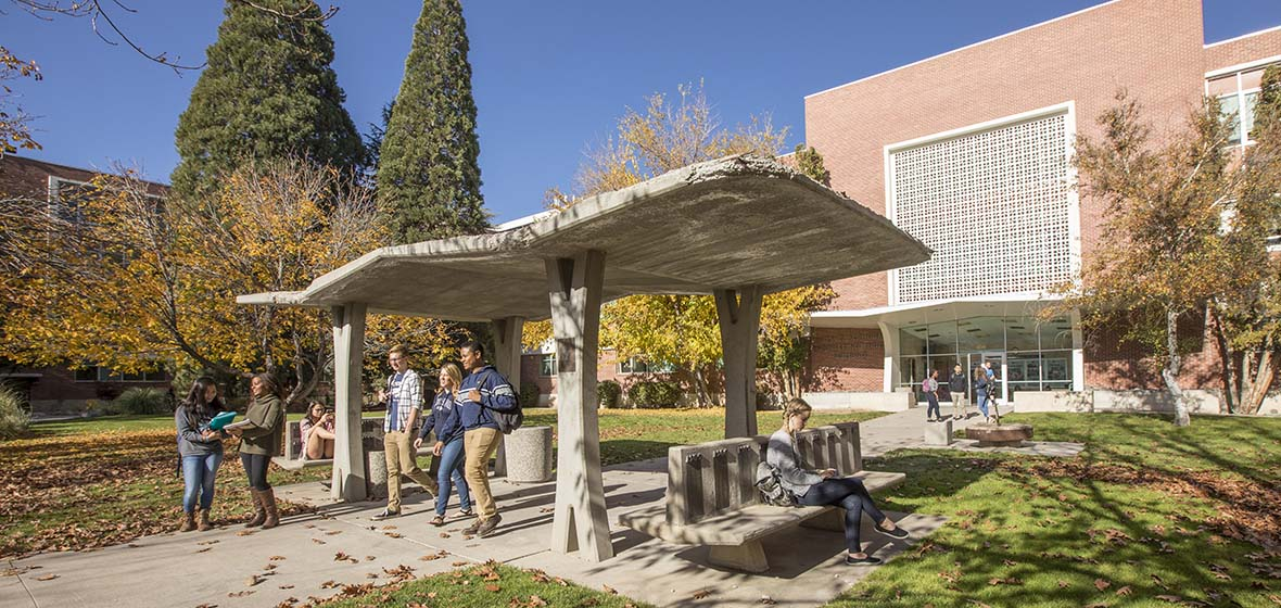 University of Nevada, Reno students and campus in the fall