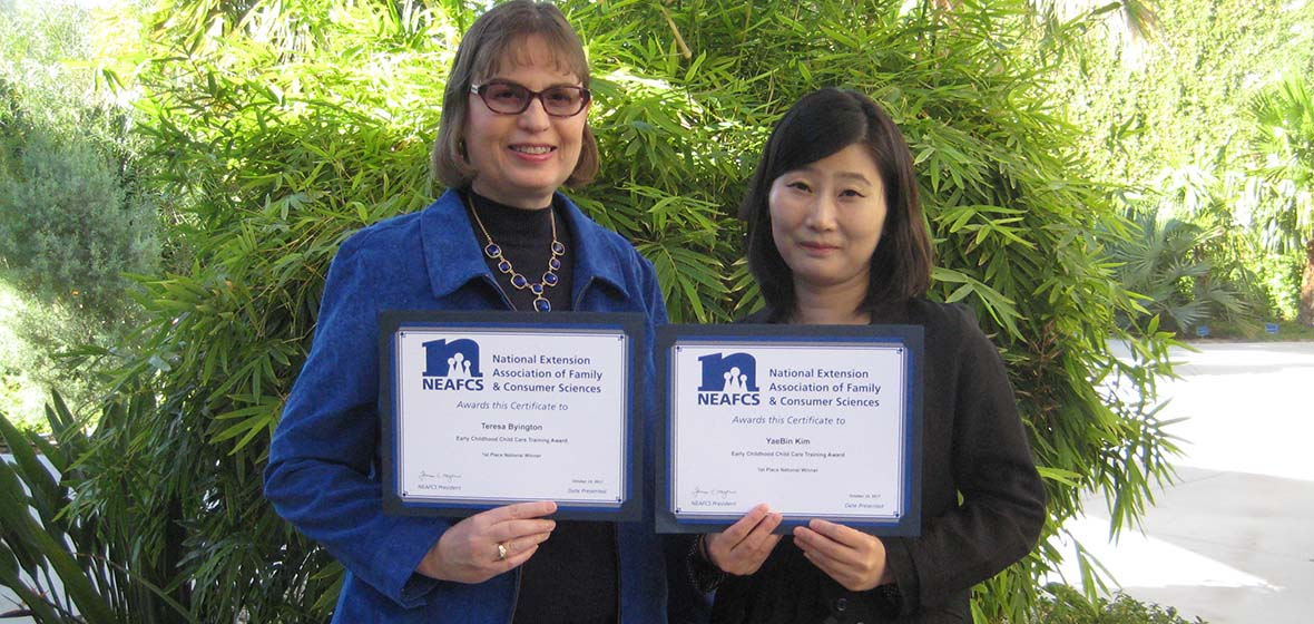 Team Wins National Award For Early Childhood Child Care Training Program