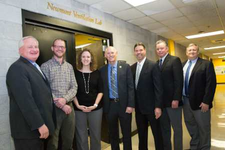 Newmont representatives at dedication ceremony