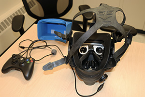 Underwater VR headset with controller