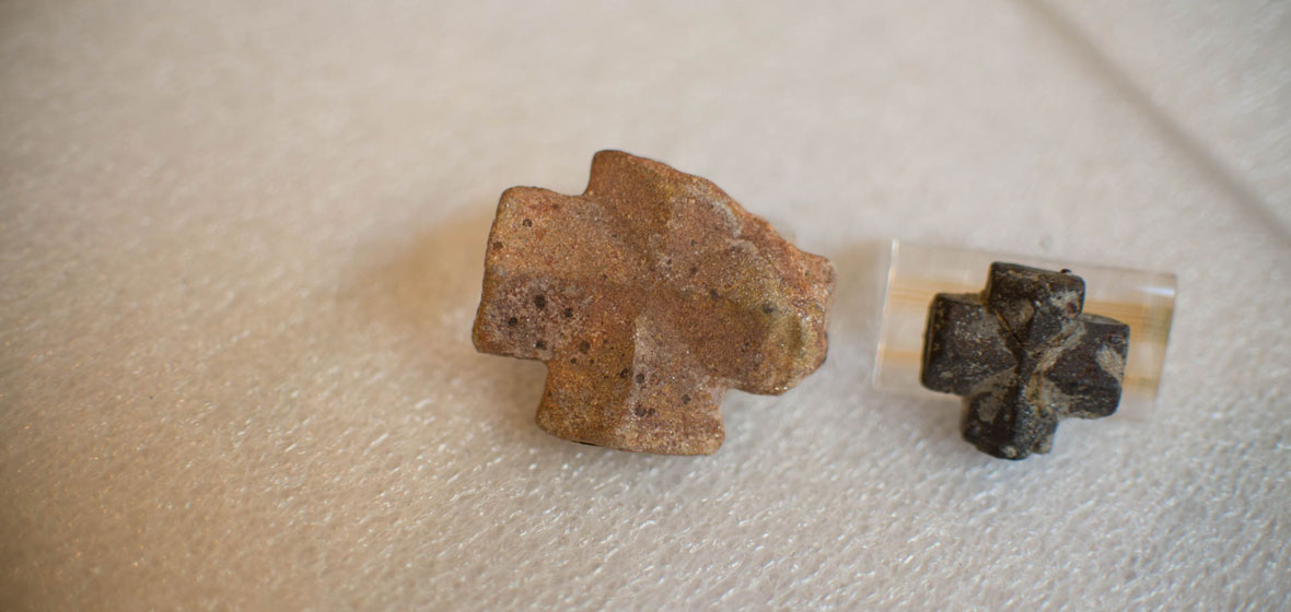 Two staurolite crystals