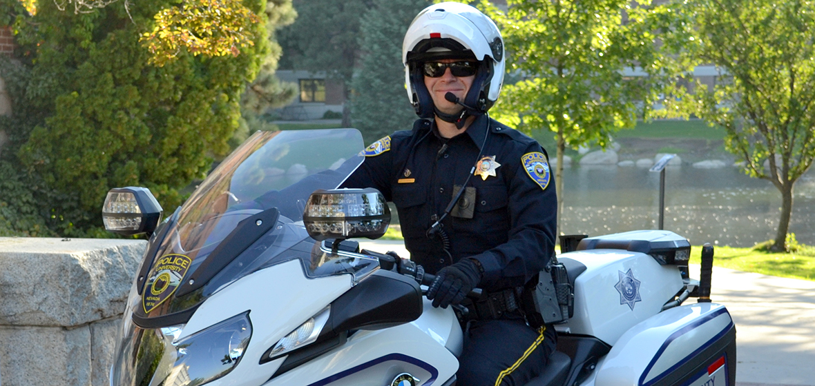 University Motorcycle Officer Tim Wilmoth