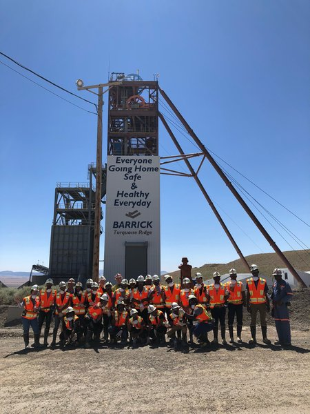 Mandela Fellows at Barrick Gold Corporation's Turquoise Ridge Mine