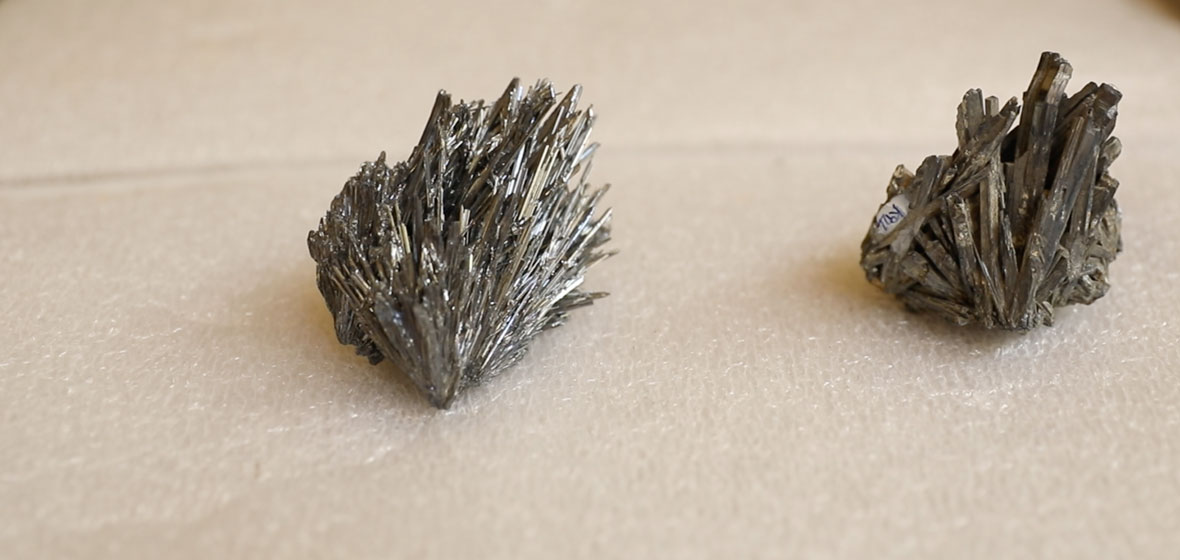 Stibnite on display