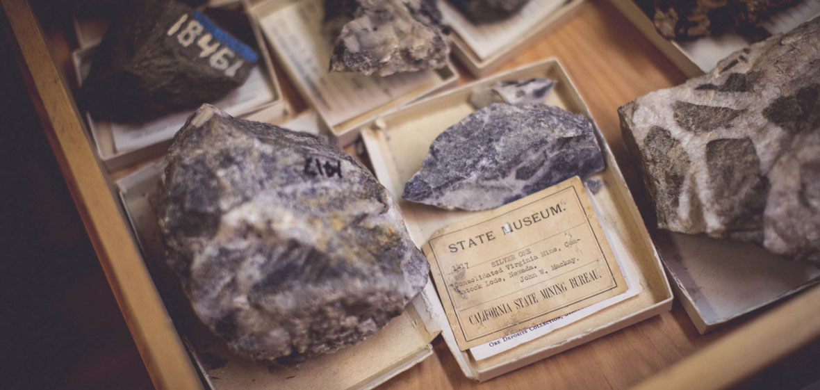 Drawer of ore samples