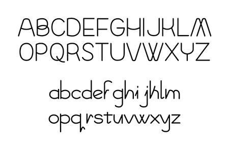 An example of Monica Maccaux' typeface