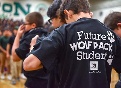 """Future Wolf Pack Student"" screen printed on a black T-Shirt, worn by a middle school student at Clayton Middle School"