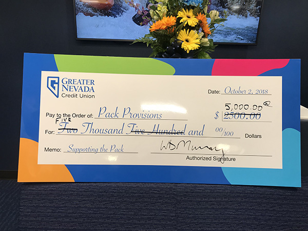 Check from Greater Nevada Credit Union