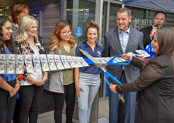 The ribbon cutting ceremony for Greater Nevada Credit Union