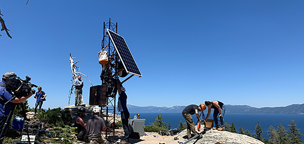 AlertTahoe camera and tower install