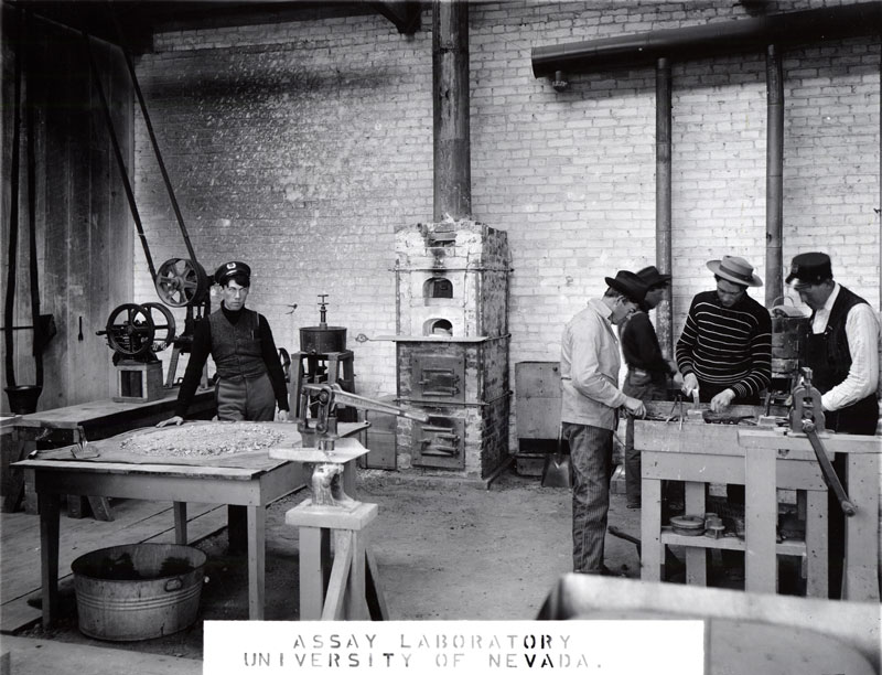 Old photograph of Mackay Assay Lab