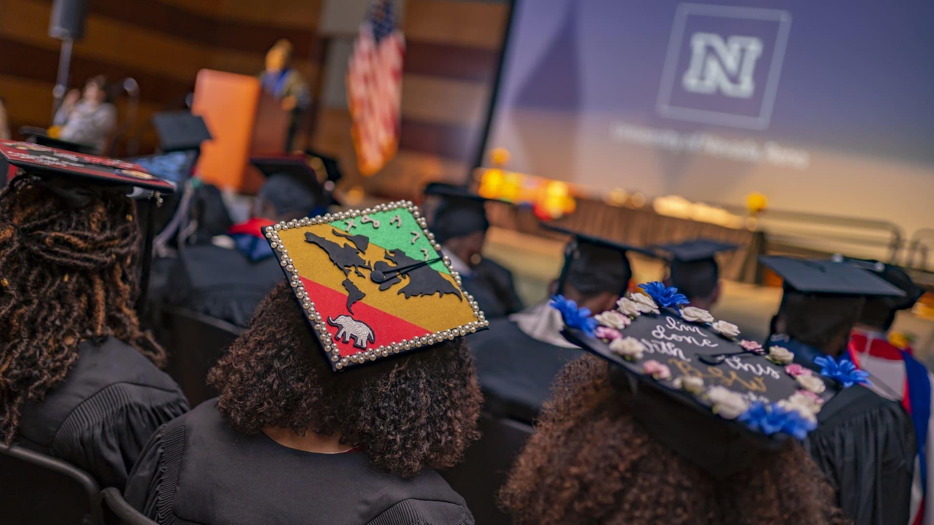 Graduates at the African Diaspora culture commencement celebration