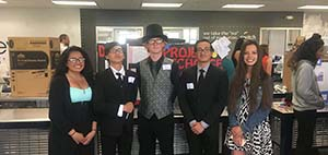 A group from Reed High School pose at the Project ReCharge recognition event.