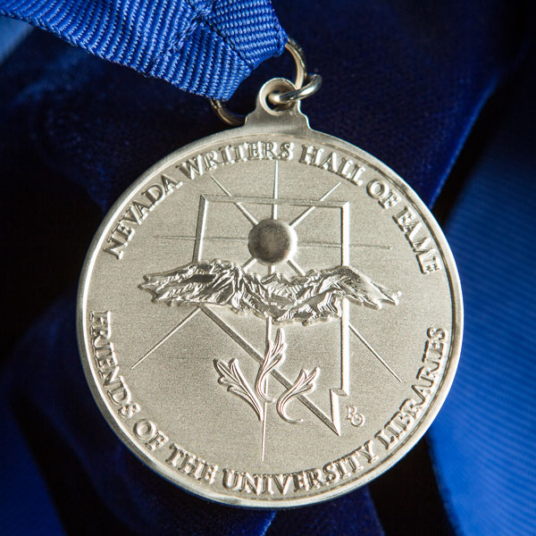 Photo of the Nevada Writers Hall of Fame Medal