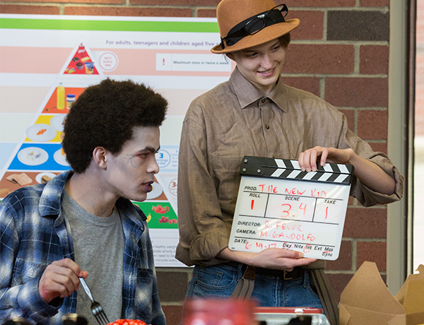 Mick and Co-star work on their Smallwood video project