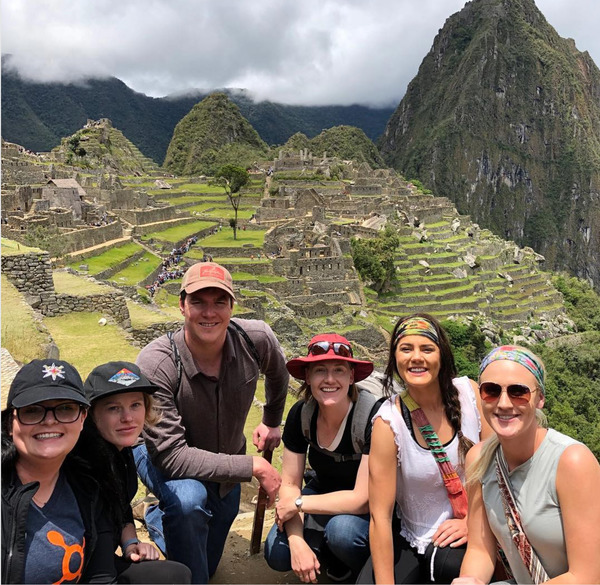 Melinda Yerka with students at Machu Picchu