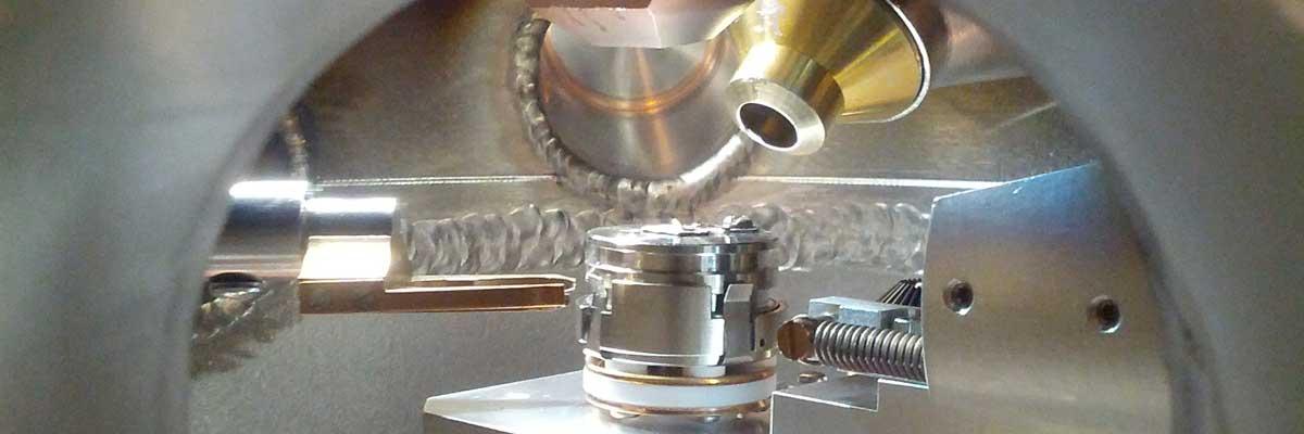A close up of a materials testing machine
