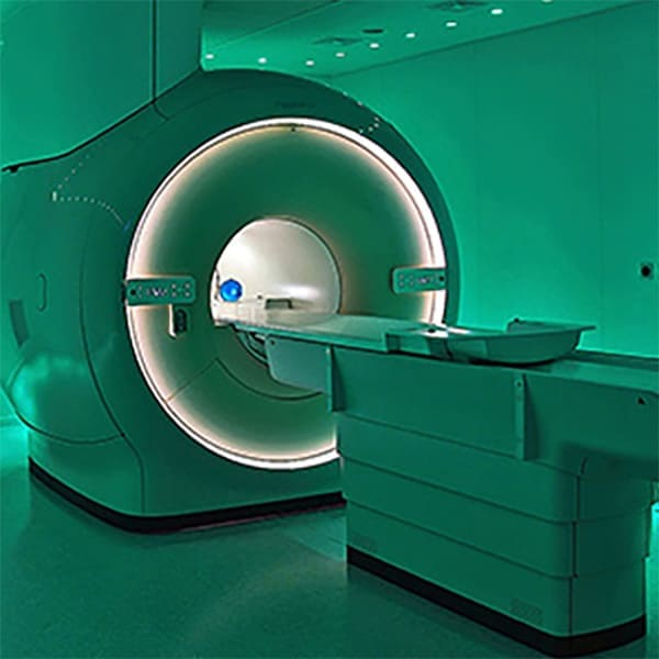 An empty MRI machine