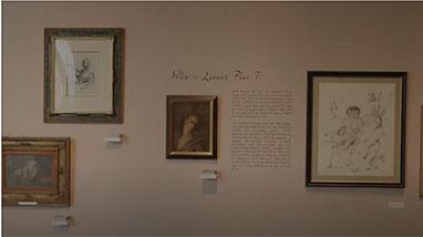 Leonor Fini artwork on exhibition wall in museum
