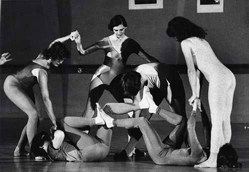 Dance rehearsal of La Machine with Susan Genevish, Rosilind Beaird, Shaun Fanrsowth, Suzanne Delzell, Jason Marsh and Sandi Millenbruck (circa 1985).