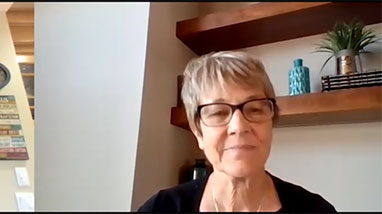 Debra Moddelmog on Zoom from her home
