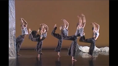 Ririe Woodbury dancers on stage during performance