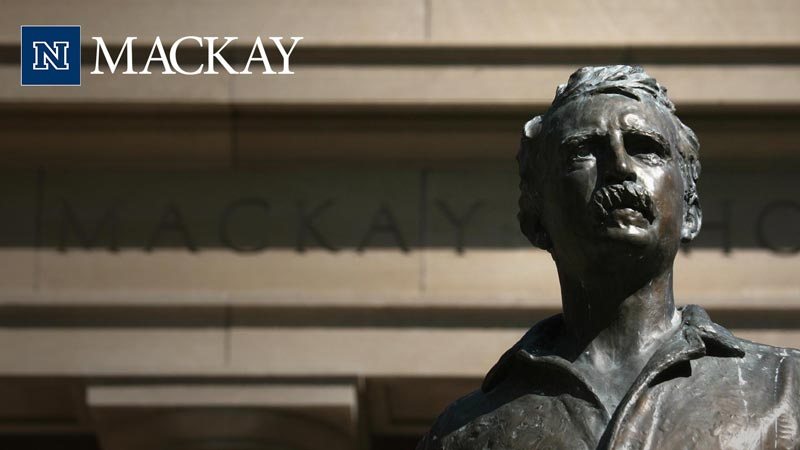 Mackay statue Zoom background