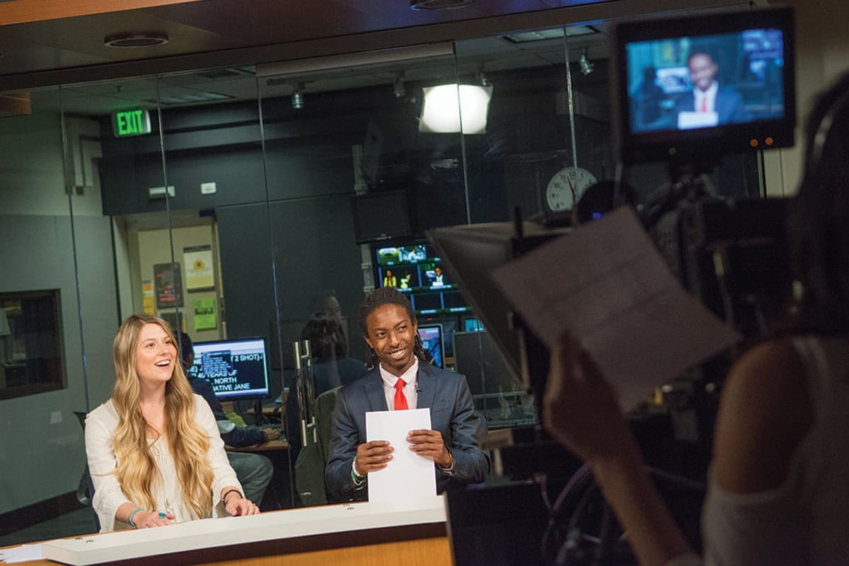 Students in the Reynolds School of Journalism gain experience in a working newsroom.