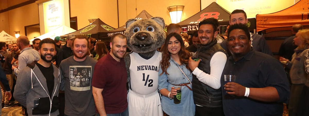 Attendees of the Nevada Young Alumni Chapter's 26th Annual Beer Fest event in 2019.