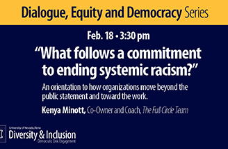 """Title slide for """"What follows a commitment to ending systemic racism?"""""""