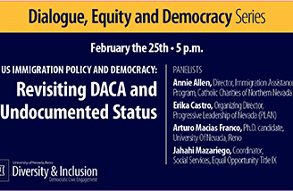 """Title slide for """"US immigration policy and democracy: Revisiting DACA and undocumented status"""""""