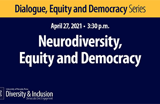 """Title slide for """"Neurodiversity, equity and democracy"""""""