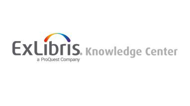 Logo: ExLibris-Knowledge Center | A Proquest Company