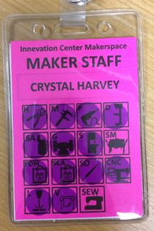 A safety badge for Makerspace staff