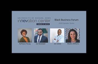 Guest speakers KaPreace Young, Joe Randolph, Jon James, and Myisha Williams from the Black Business webinar