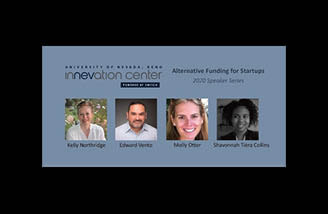 Guest speakers Kelly Northridge, Edward Vento, Molly Otter, and Shavonnah Collins from the Alternative Funding webinar
