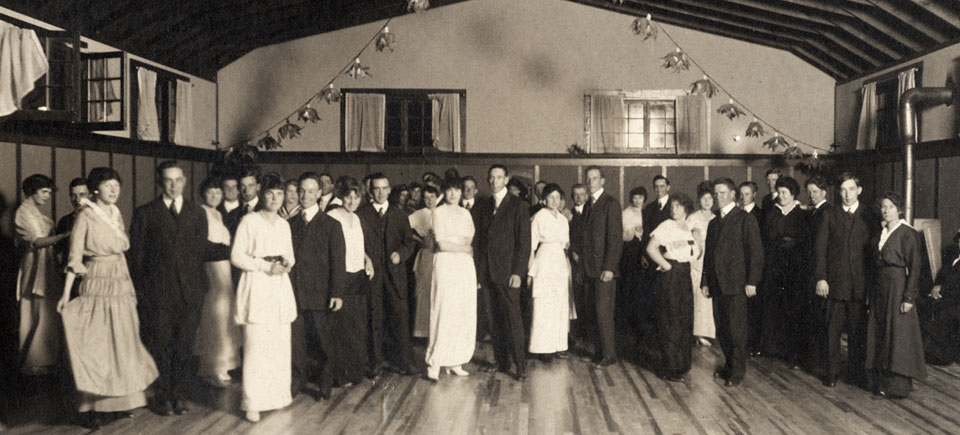 A group picture at a dance