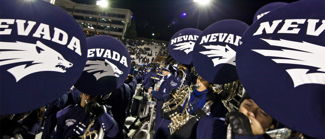 Marching Band Debuts One Of Largest Ensembles At Saturday S Wolf Pack Football Game University Of Nevada Reno