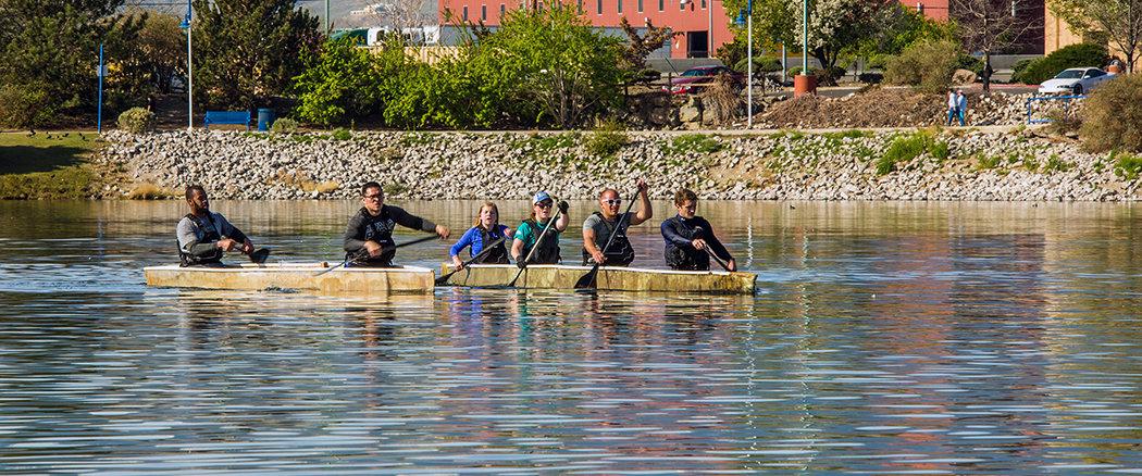 concrete canoe team practice