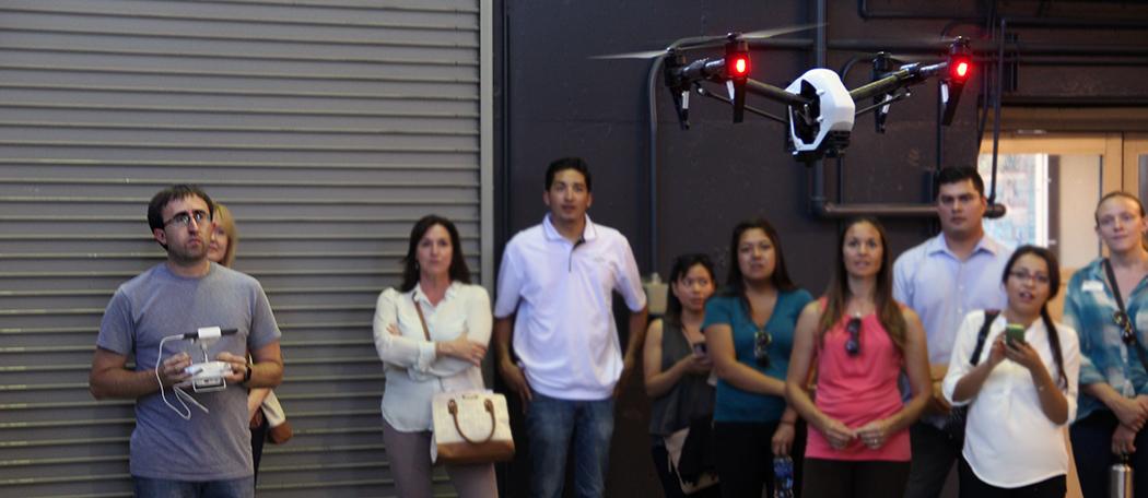 Richard Kelley demos quadcopter